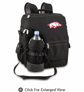 Picnic Time Turismo Black - Embroidered University of Arkansas Razorbacks