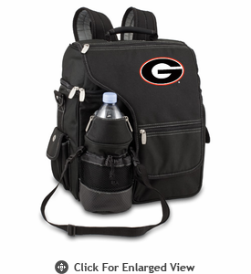 Picnic Time Turismo Black - Embroidered University of Georgia Bulldogs