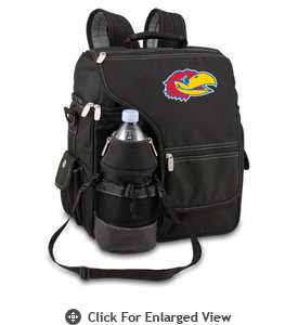 Picnic Time Turismo Black - Embroidered University of Kansas Jayhawks