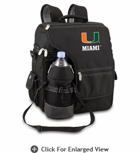 Picnic Time Turismo Black - Embroidered University of Miami Hurricanes