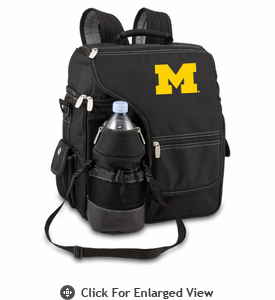 Picnic Time Turismo Black - Embroidered University of Michigan Wolverines
