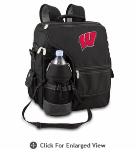 Picnic Time Turismo Black - Embroidered University of Wisconsin Badgers
