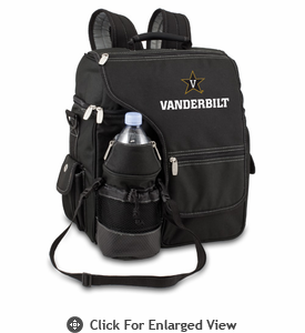 Picnic Time Turismo Black - Embroidered Vanderbilt University Commodores