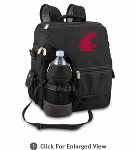 Picnic Time Turismo Black - Embroidered Washington State Cougars