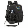 Picnic Time Turismo Black - Embroidered West Virginia University Mountaineers