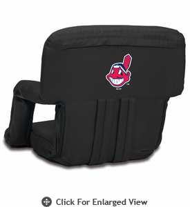 Picnic Time Ventura Seat - Black Cleveland Indians