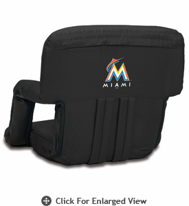 Picnic Time Ventura Seat - Black Miami Marlins