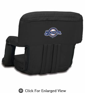 Picnic Time Ventura Seat - Black Milwaukee Brewers