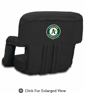 Picnic Time Ventura Seat - Black Oakland Athletics