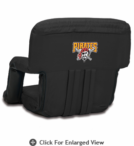 Picnic Time Ventura Seat - Black Pittsburgh Pirates