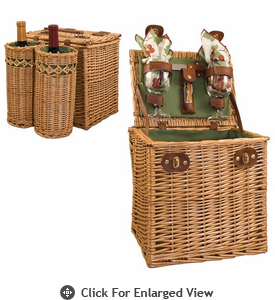 Picnic Time�  Vino Wine Basket for 2