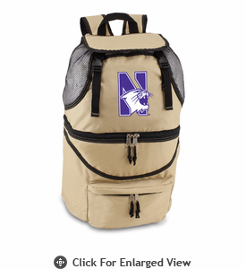 Picnic Time Zuma Digital Print - Beige Northwestern University Wildcats