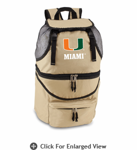 Picnic Time Zuma Digital Print - Beige University of Miami Hurricanes