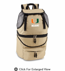 Picnic Time Zuma Embroidered - Beige University of Miami Hurricanes