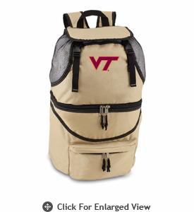 Picnic Time Zuma Embroidered - Beige Virginia Tech Hokies