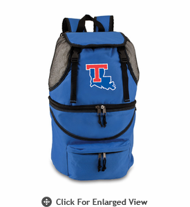 Picnic Time Zuma Embroidered - Blue Louisiana Tech Bulldogs