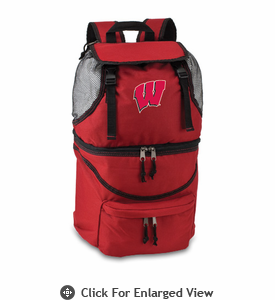 Picnic Time Zuma Embroidered - Red University of Wisconsin Badgers