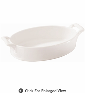 Revol Porcelain Belle Cuisine Oval Baking Dish, Deep 14oz White