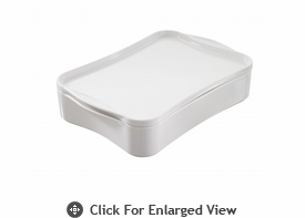 Revol Porcelain Cook & Play Rectangular Dish with Lid White