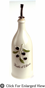 Revol Porcelain Grand Classiques 26.5oz Provence Olive Oil Bottle White