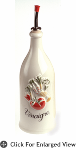 Revol Porcelain Grand Classiques 8.75oz Provence Vinegar Bottle White