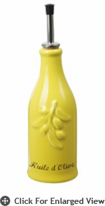 Revol Porcelain Happy Cuisine 8.75oz Provence Olive Oil Bottle Yellow