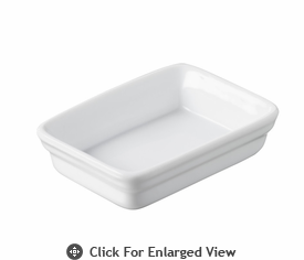 Revol Porcelain Miniatures Miniature Rectangular Dish White