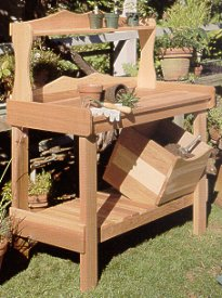 Rustic Natural Cedar Furniture Company Potting Bench