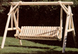 Rustic Natural Furniture Company 6' Classic Swing