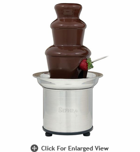 "Sephra  16"" Select Home Chocolate  Fondue Fountain"