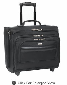 "SOLO 15.6"" Rolling Laptop Overnighter-Black"