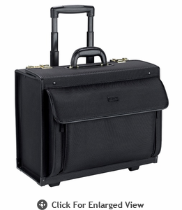 "SOLO 16"" Rolling Laptop Catalog Case  Black"