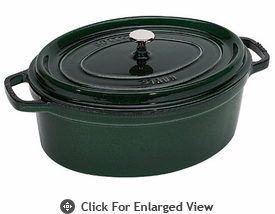Staub 7qt La Cocotte Oval French Oven Basil