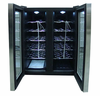 Sunpentown  24-bottle Double-Door Dual-Zone Thermo-Electric Wine Cooler with Heating