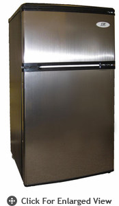 Sunpentown 3.2 CU. FT Double Door Refrigerator Stainless Steel Energy Star