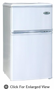 Sunpentown 3.2 CU. FT Double Door Refrigerator  White Energy Star