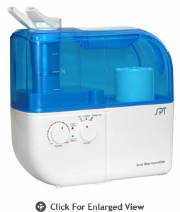 Sunpentown Dual Mist Humidifier w/ ION Exchange Filter