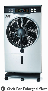 Sunpentown  Indoor Misting Fan (Fine Mist Air Cooler-Fan-Humidifier)