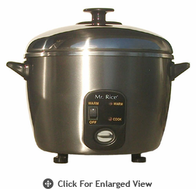 Sunpentown  Stainless Steel  Rice Cooker and Steamer  6 Cup