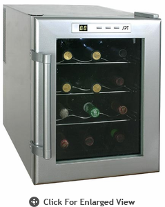 Sunpentown Thermo Electric 12 Bottle Wine Cooler