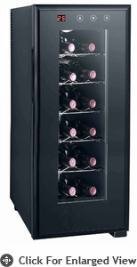Sunpentown Thermo-Electric 12 Bottle Wine Cooler With Heating