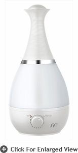 Sunpentown  Ultrasonic Humidifier with Fragrance Diffuser (Pearl White)