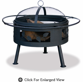 UniFlame Aged Bronze Firepit With Leaf Design