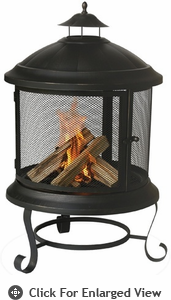 Uniflame  Bronze Outdoor  Wood Burning Fireplace