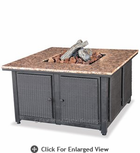 Uniflame  LP Gas Fireplace  Granite Mantel