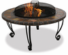 UniFlame Slate/Marble Firepit With Copper Accents