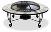 UniFlame Wood Burning Firepit Mosiac Tile Stainless Bowl