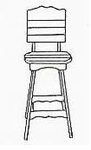 Uwharrie Chair Company�  The Companion Series  Outdoor Bar Stool with Back