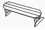 Uwharrie Chair Company�   The Harvest Collection  Small Harvest Bench