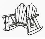 "Uwharrie Chair Company�  ""The Keep America Beautiful Series""  Two-Seater Rocker"